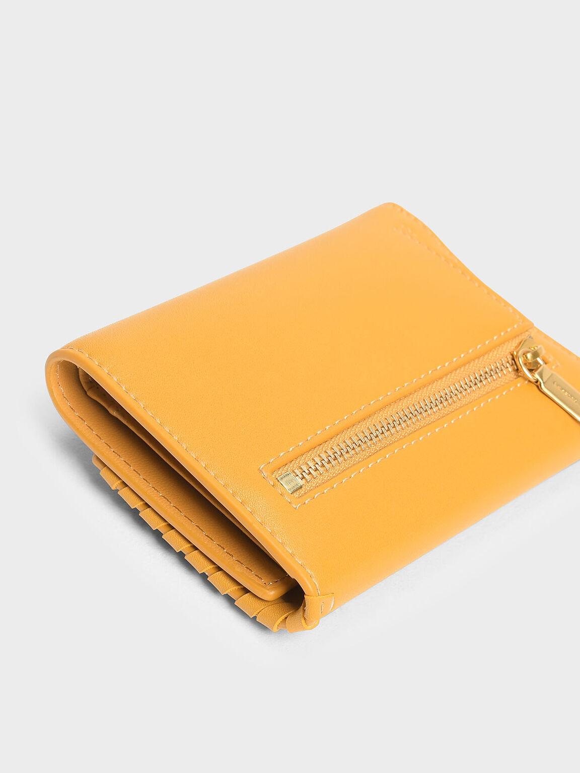 Weave Detail Wallet, Mustard, hi-res