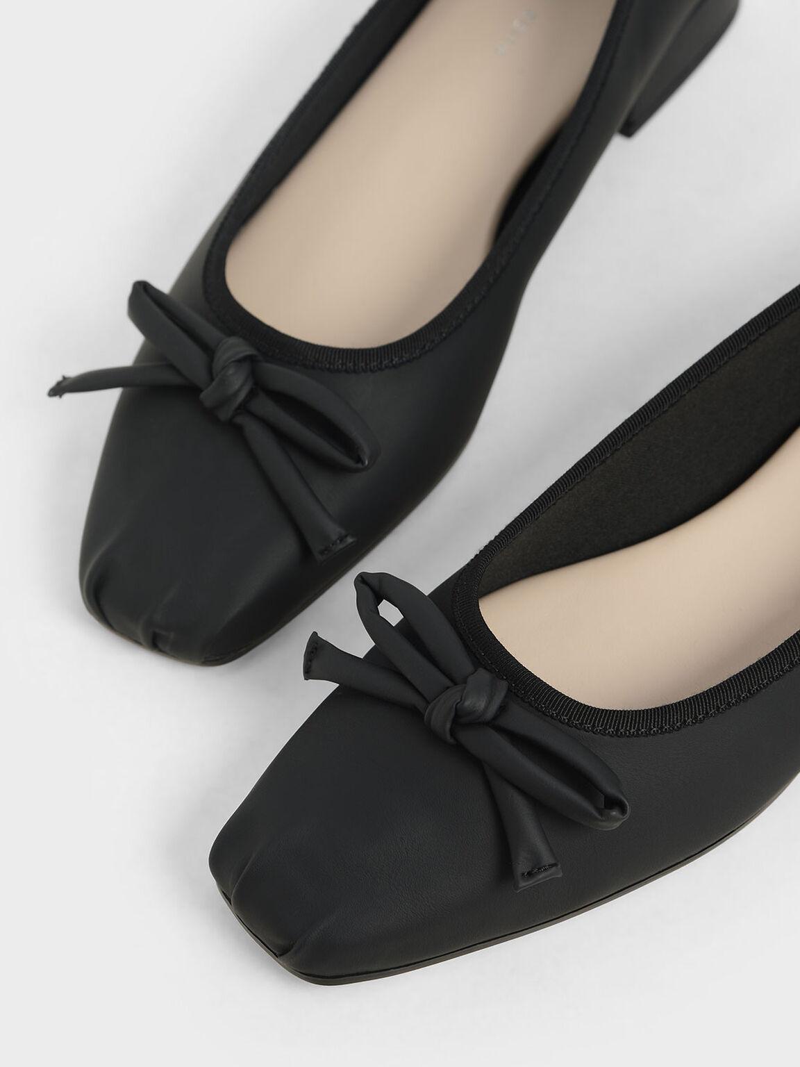 Bow Ballerinas, Black, hi-res