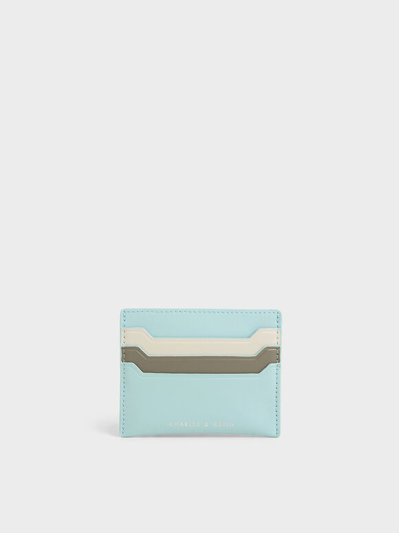 Multi-Slot Card Holder, Mint Blue, hi-res