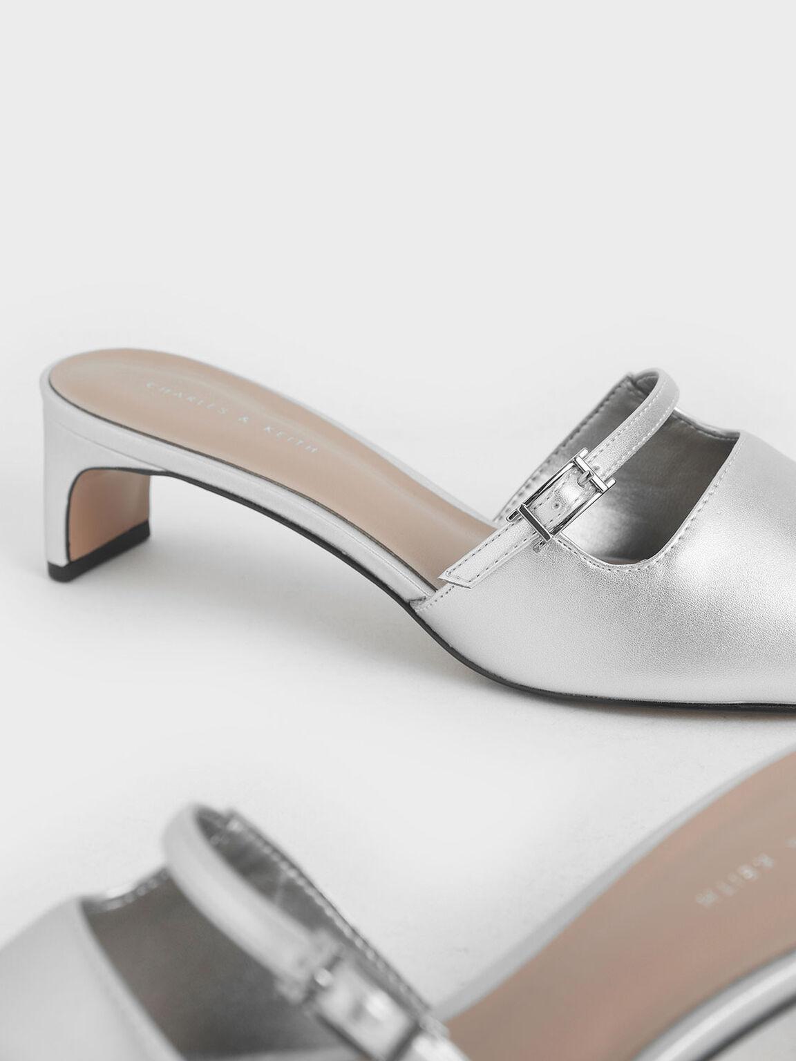 挖空穆勒鞋, 銀色, hi-res