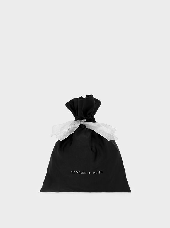 Satin Gift Bag (Small), Black, hi-res