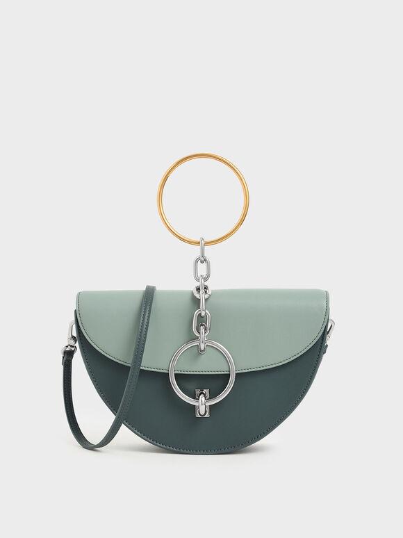 Half-Moon Bracelet Bag, Sage Green, hi-res