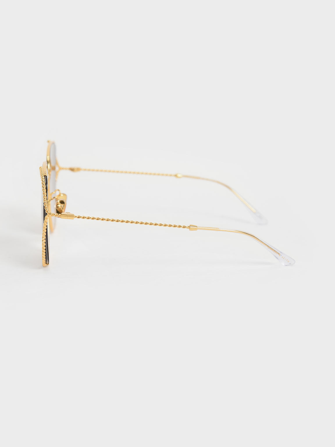 撞色方框墨鏡, 金色, hi-res