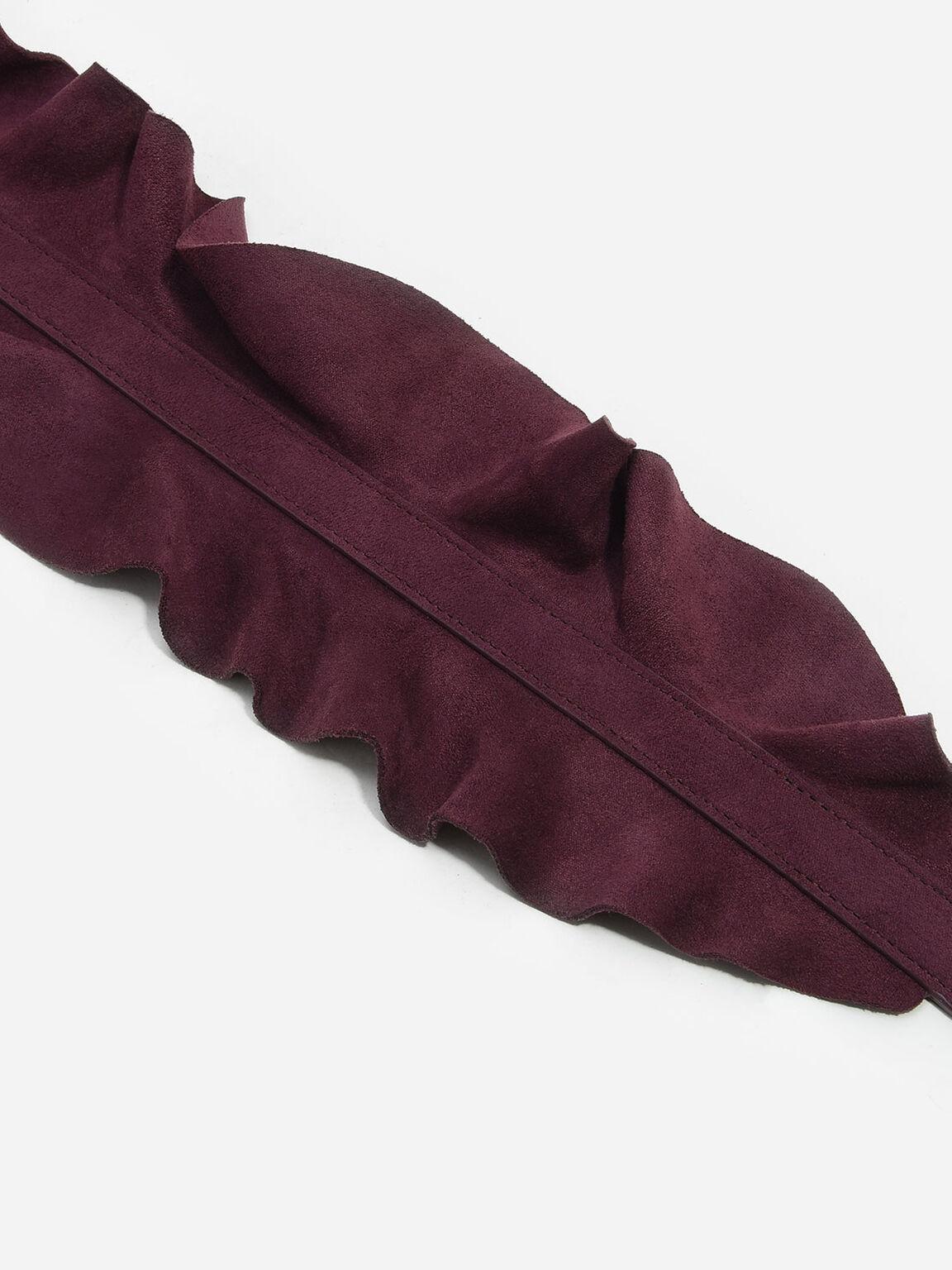 Ruffle Bag Strap, Prune, hi-res