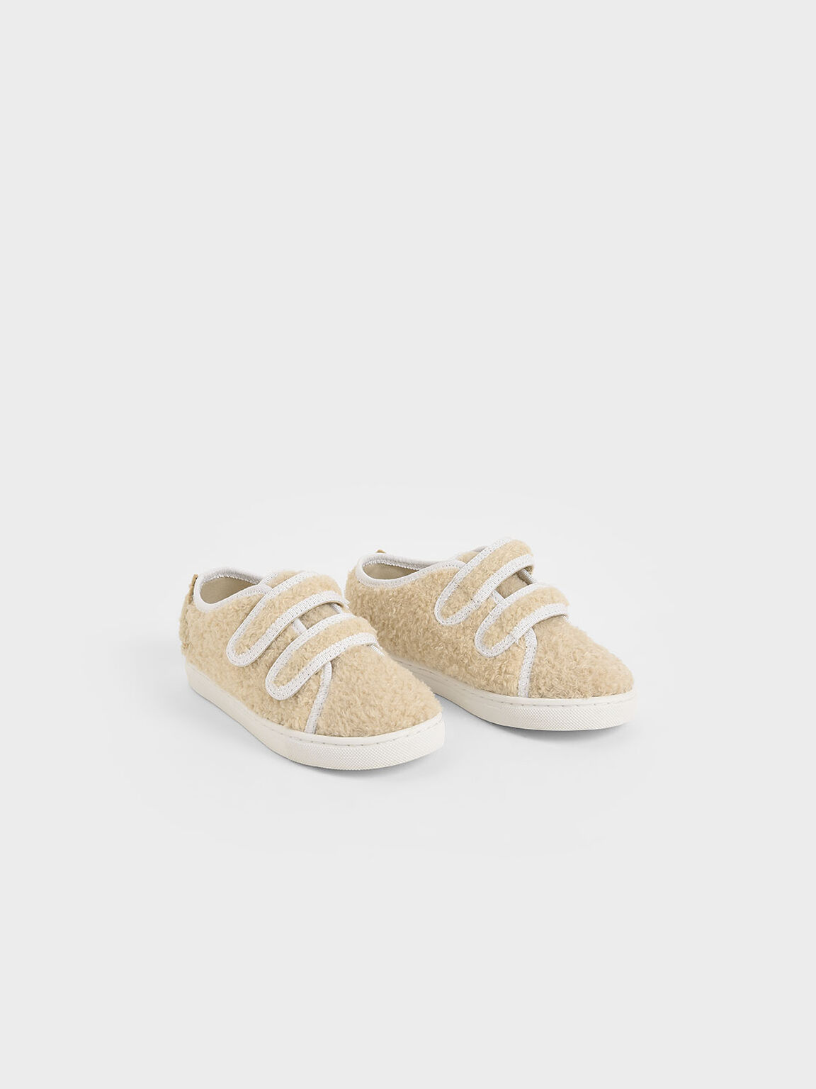 Girls' Textured Sneakers, Chalk, hi-res