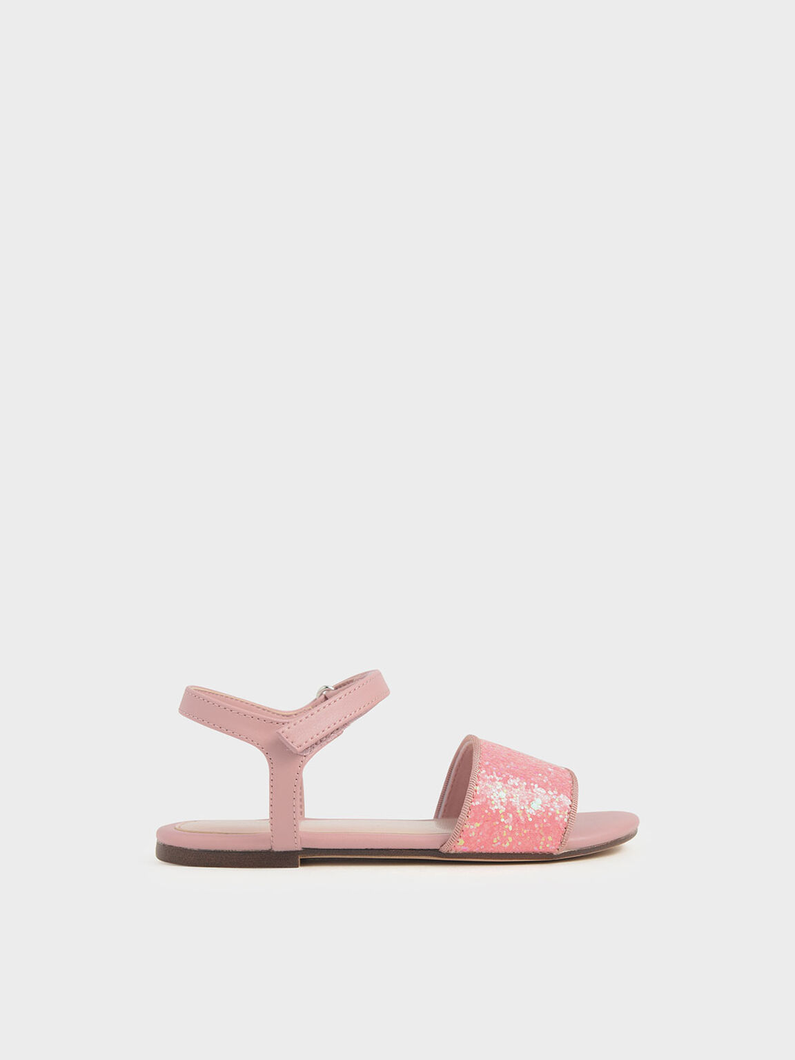 Girls' Glitter Sandals, Pink, hi-res