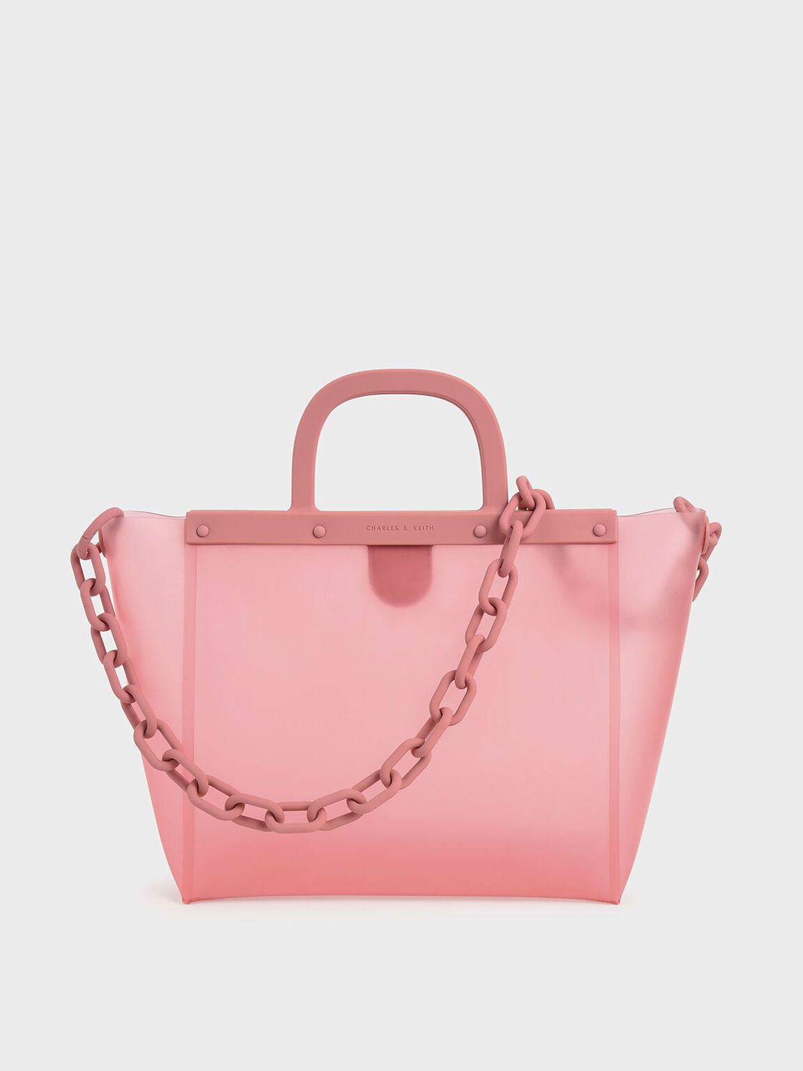 Large See-Through Tote Bag, Pink, hi-res