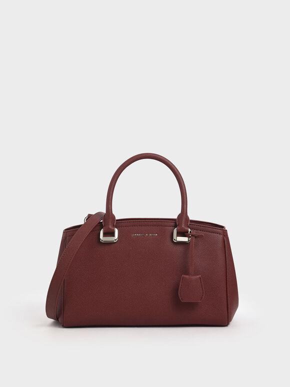 簡約長型手提包, 紅色, hi-res