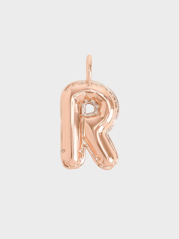 Alphabet 'R' Charm, Rose Gold, hi-res
