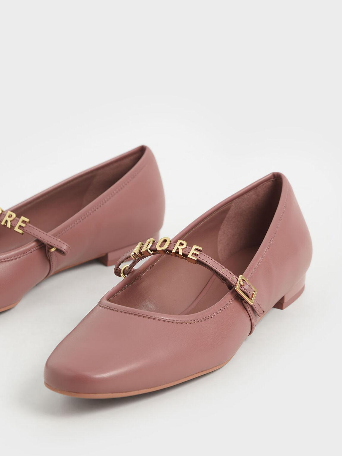 'Adore' Mary Jane Flats, Pink, hi-res