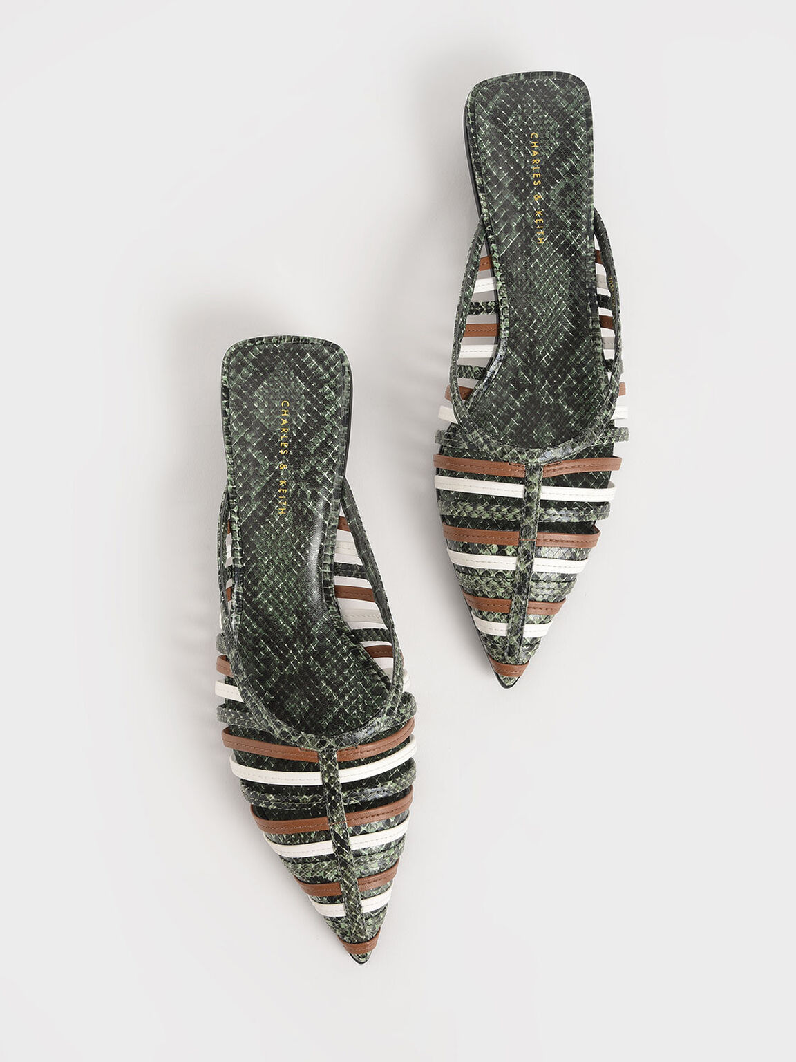 編織穆勒鞋, 綠色, hi-res