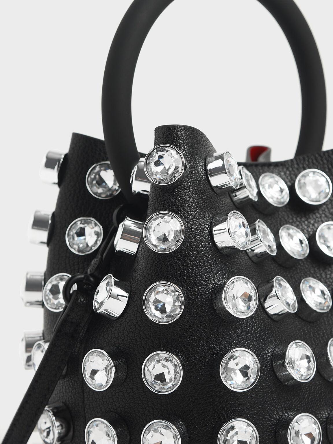 水晶水桶包, 黑色, hi-res
