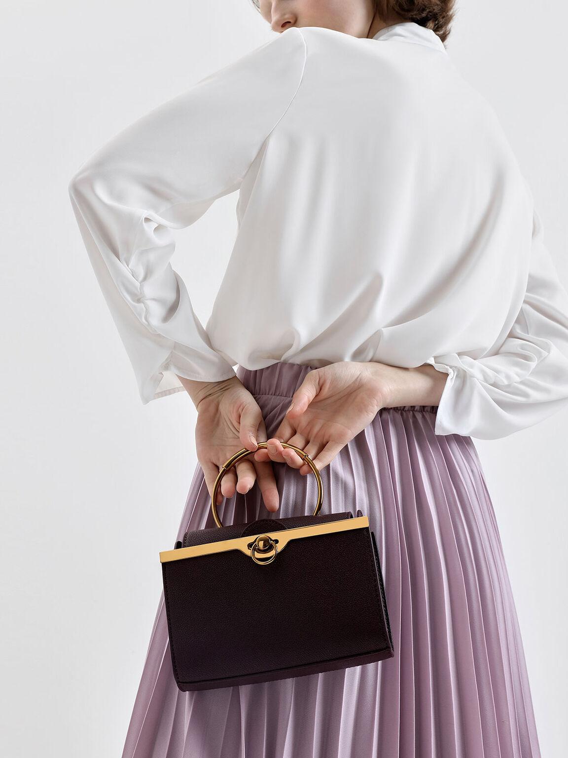 Bracelet Clutch, Purple, hi-res