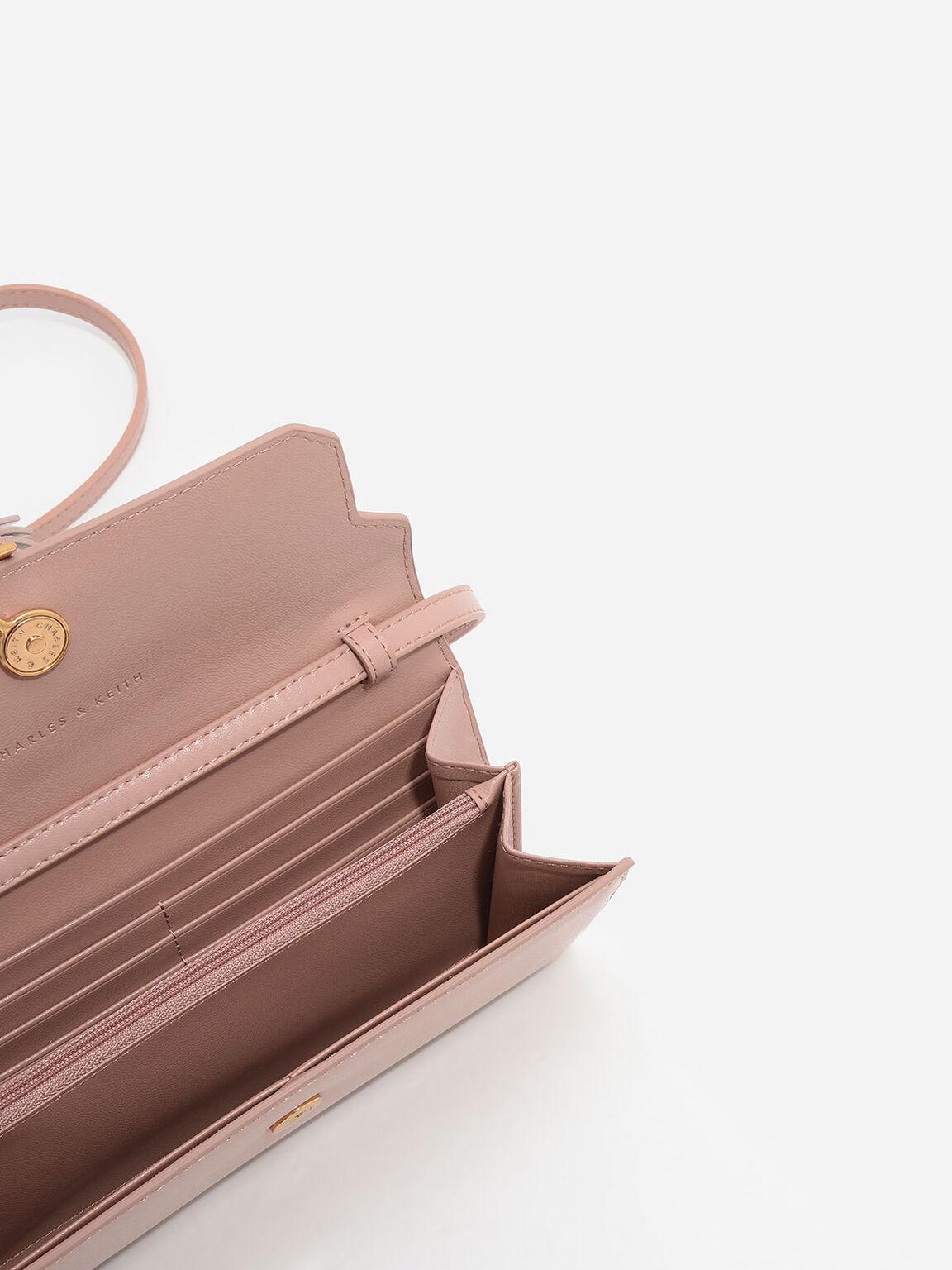 Tassel-Detail Wallet, Nude, hi-res