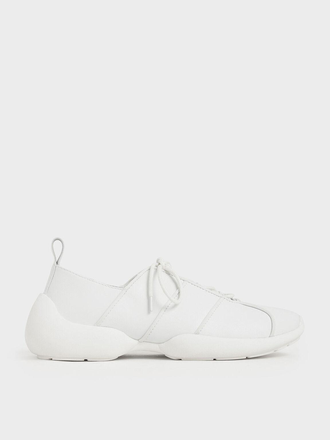 綁帶休閒鞋, 白色, hi-res