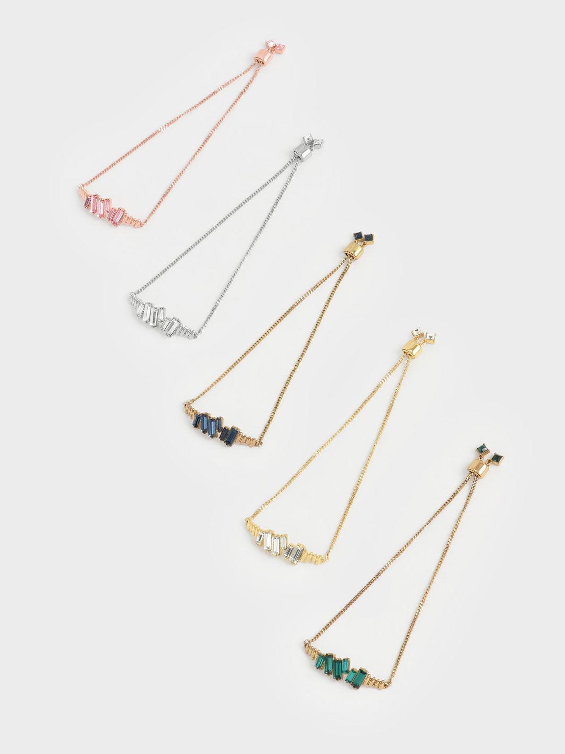 Swarovski® Crystal Embellished Chain Bracelet, Silver, hi-res