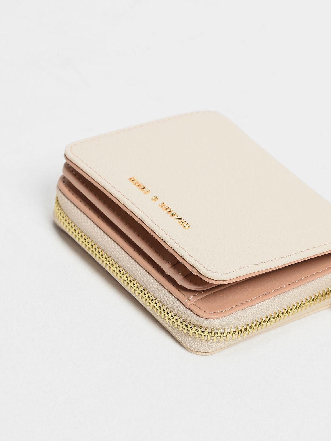 Classic Zip Mini Wallet, Light Pink, hi-res