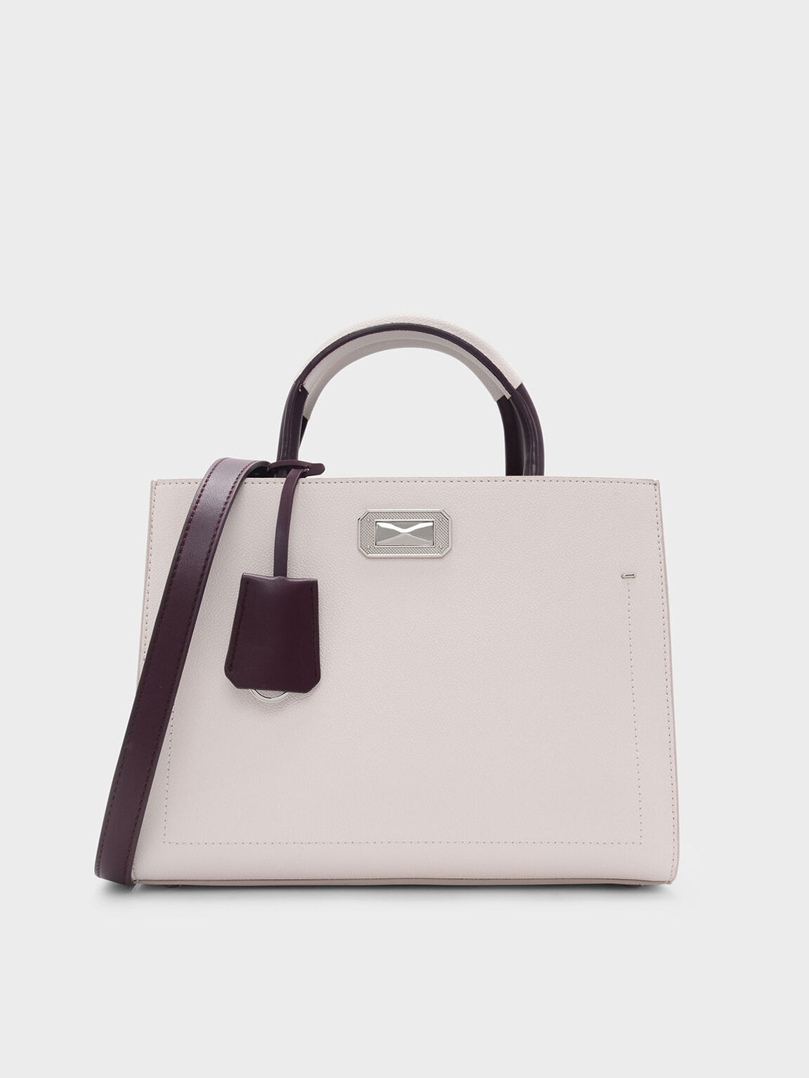 Classic Structured Bag, Light Pink, hi-res