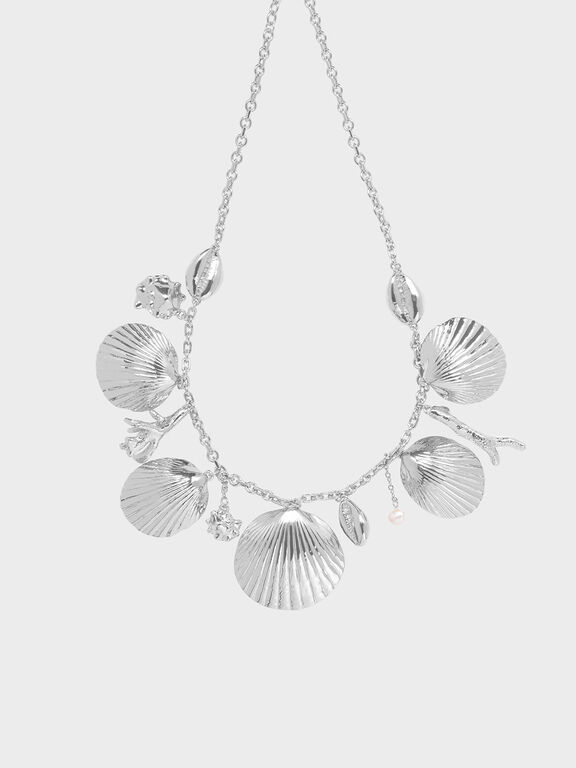 Seashell Necklace, Silver