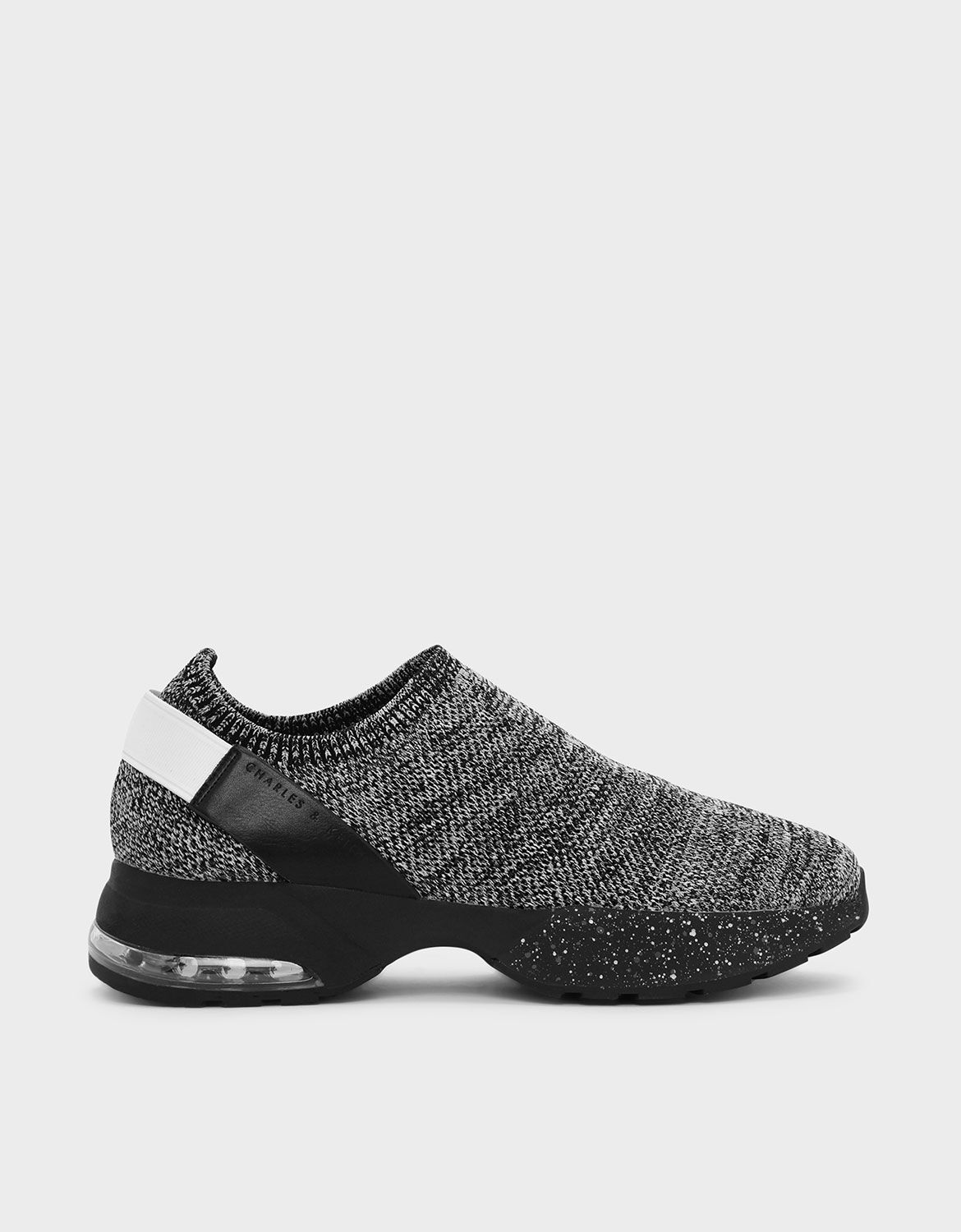 Grey Knitted Sock Sneakers   CHARLES