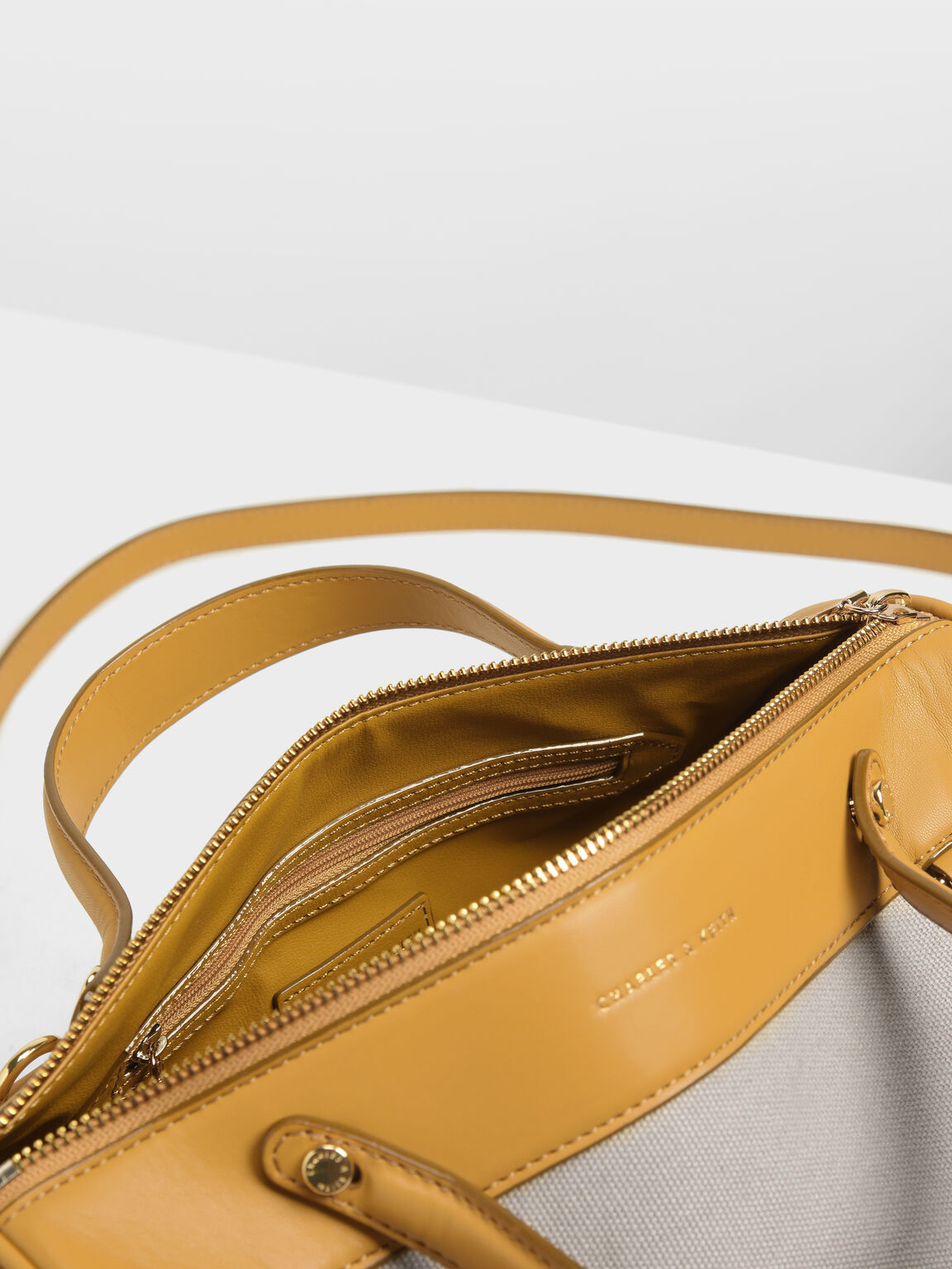 Mini Duffle Crossbody Bag, Mustard, hi-res