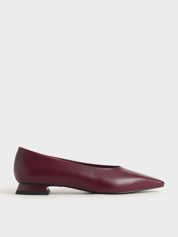 Classic Ballerina Flats, Burgundy, hi-res