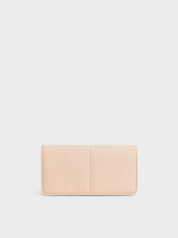 Stitch Trim Mini Long Wallet, Light Pink, hi-res