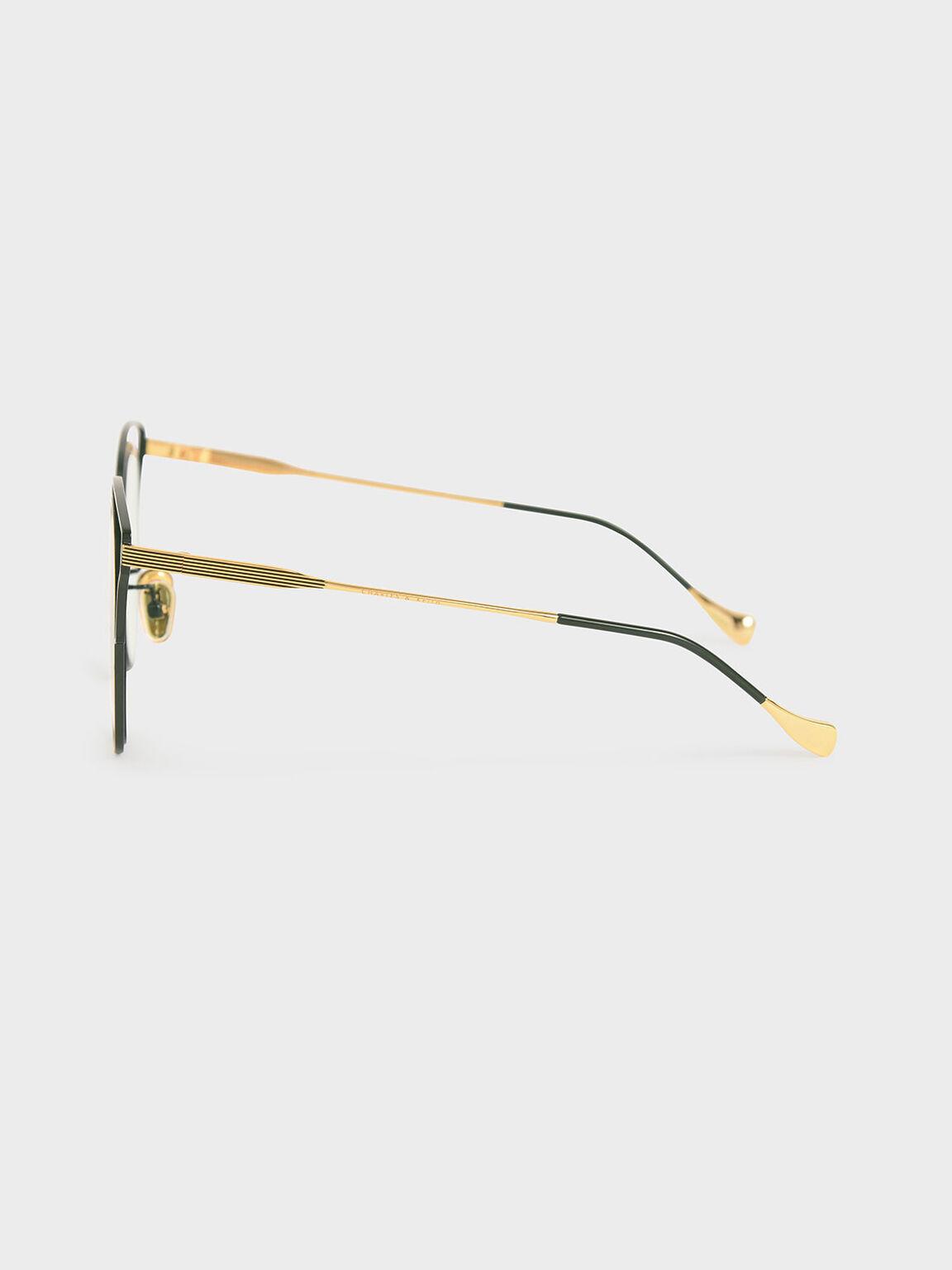 縷空蝴蝶框墨鏡, 綠色, hi-res