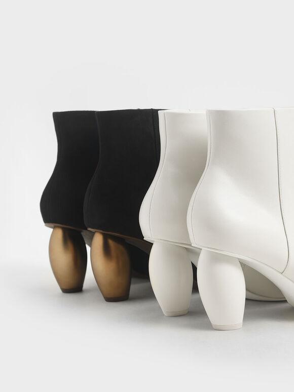 幾何跟尖頭短靴, 黑色, hi-res