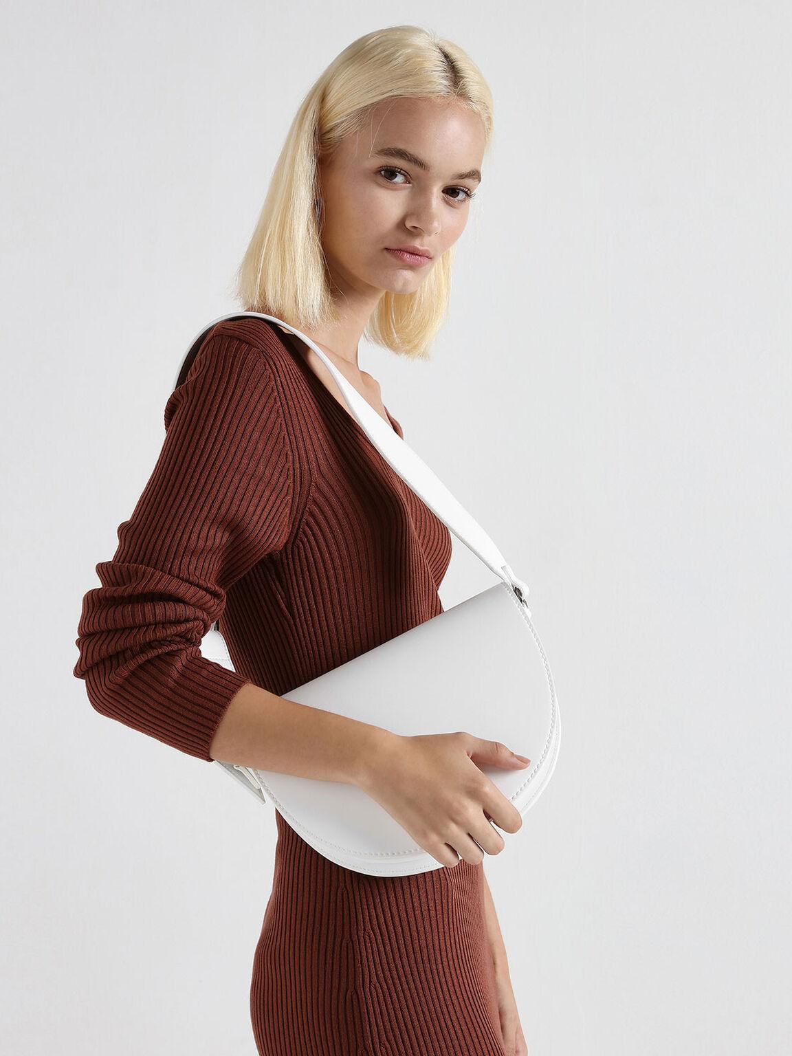 Classic Saddle Bag, White, hi-res