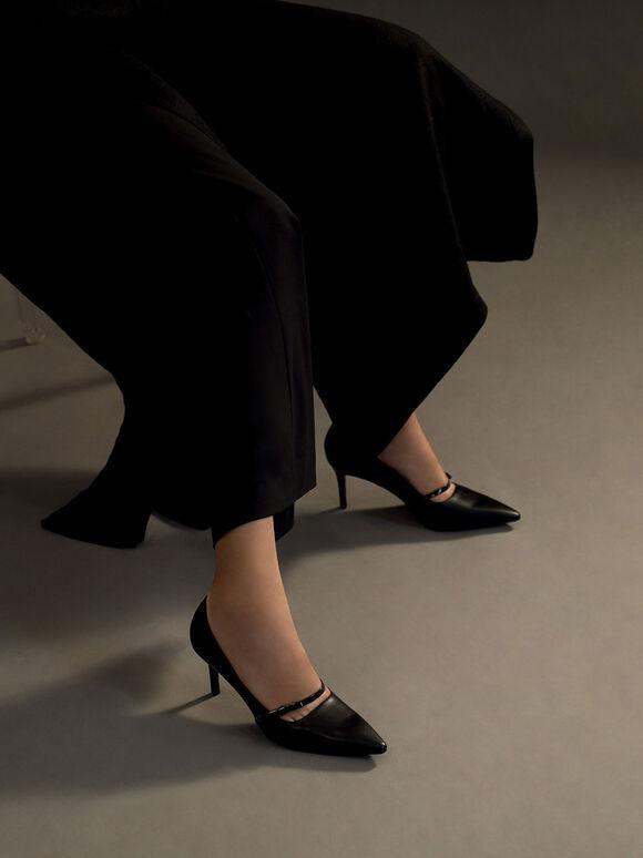 扭結瑪莉珍跟鞋, 黑色, hi-res
