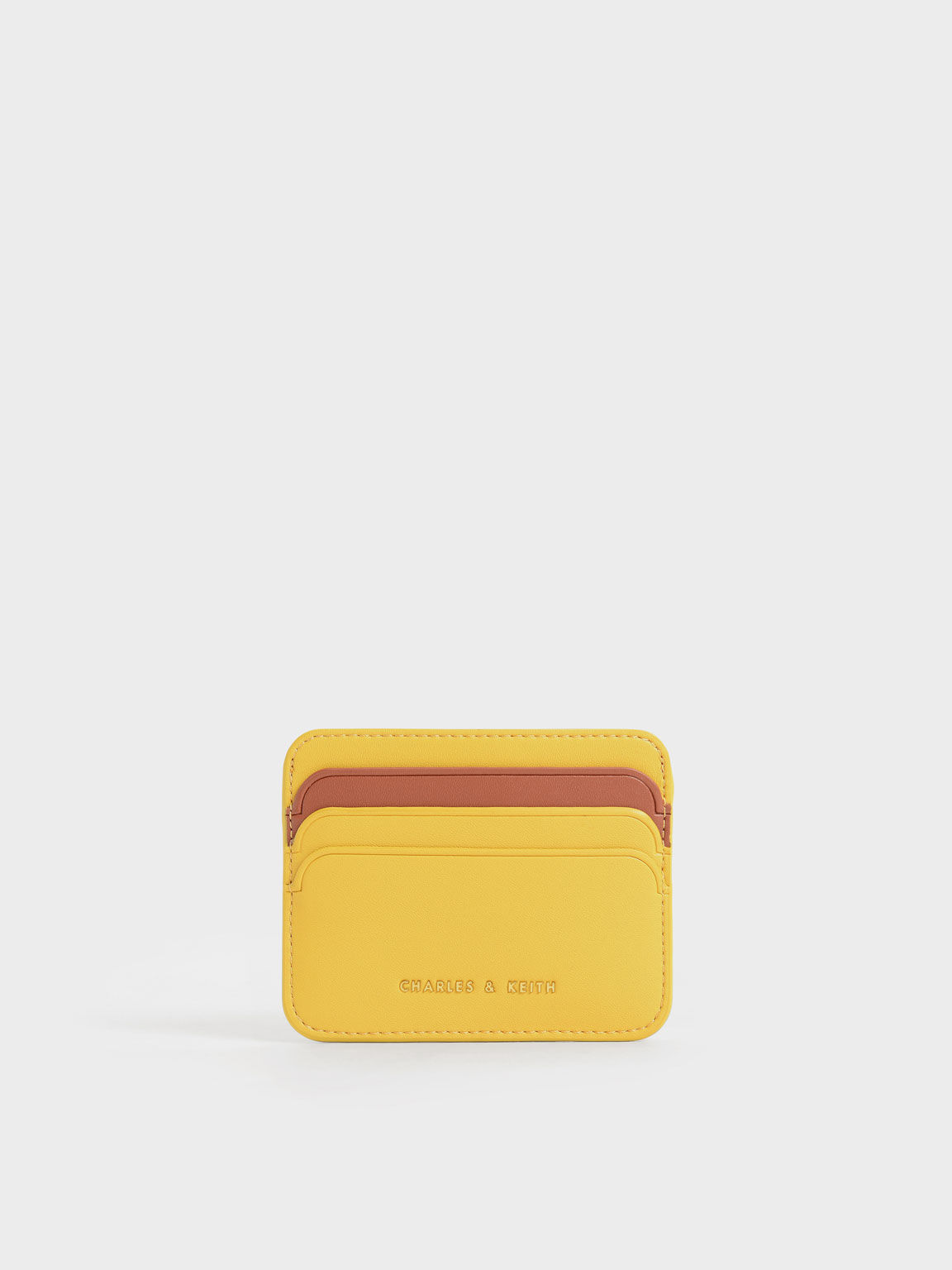 Two-Tone Multi Slot Card Holder, Mustard, hi-res