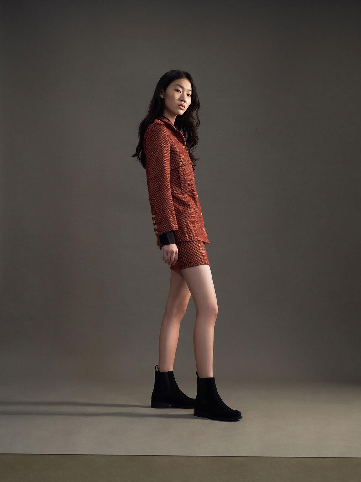 圓頭切爾西靴, 黑色特別款, hi-res