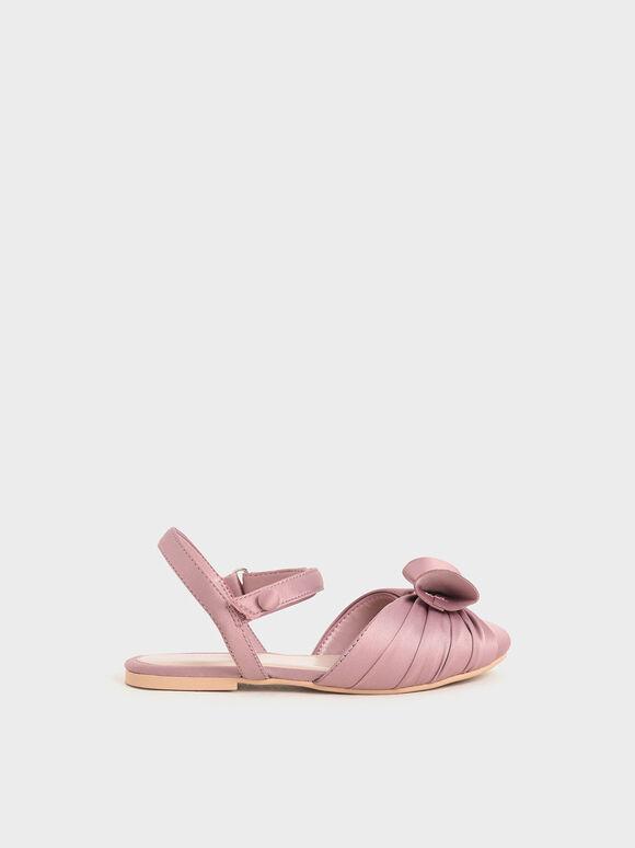 兒童蝴蝶結涼鞋, 粉紅色, hi-res