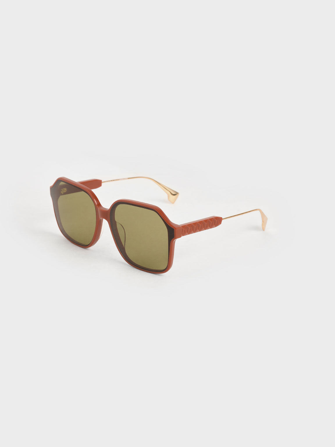 Acetate Butterfly Sunglasses, Clay, hi-res