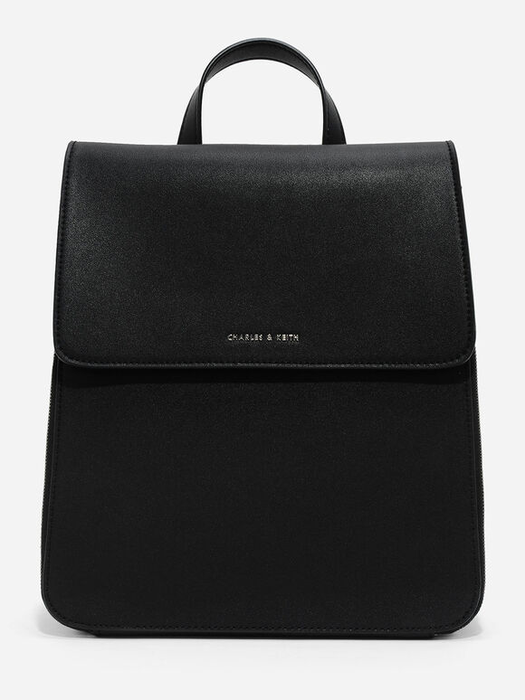 Top Handle Bag, Black, hi-res