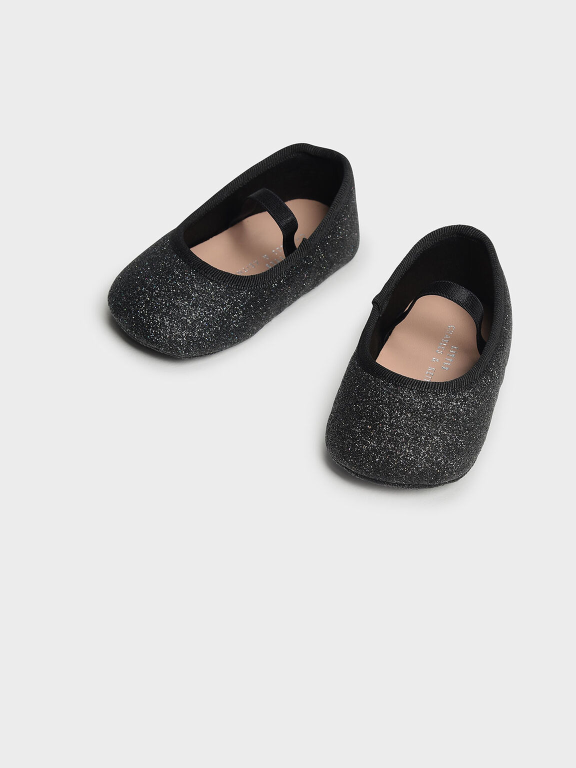 Kids Glittery Mary Janes, Black, hi-res