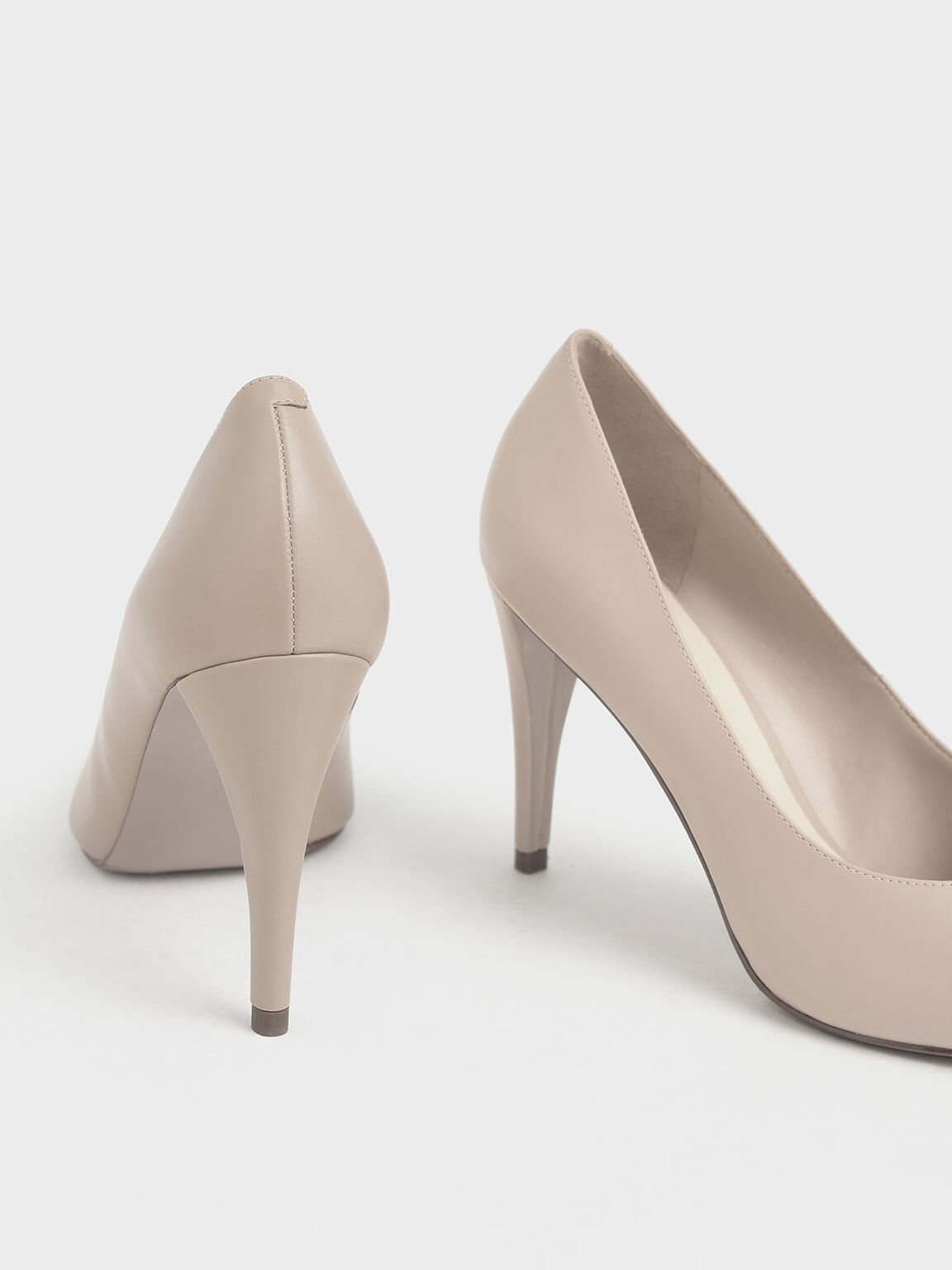 Pointed Toe Pumps, Beige, hi-res