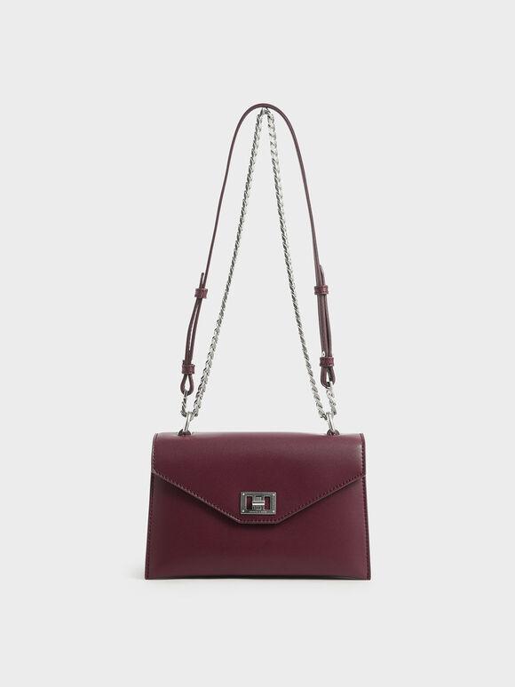 Envelope Bag, Burgundy, hi-res