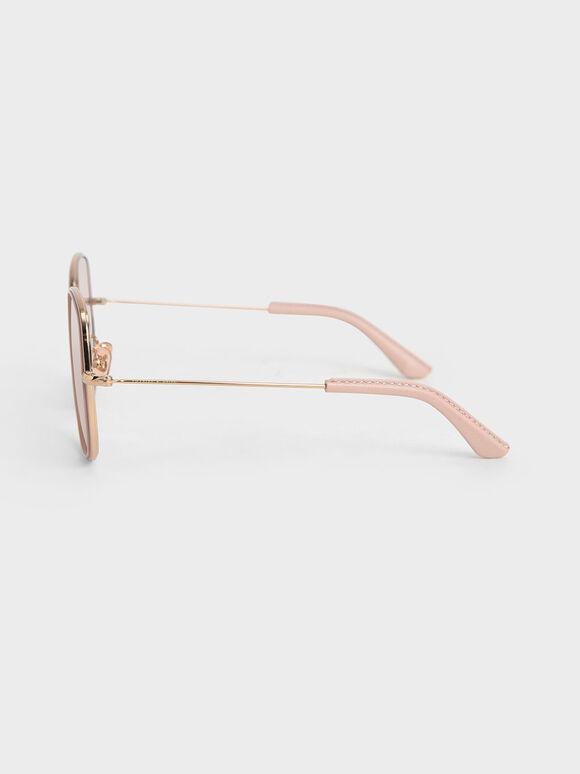 金屬方框墨鏡, 玫瑰金, hi-res