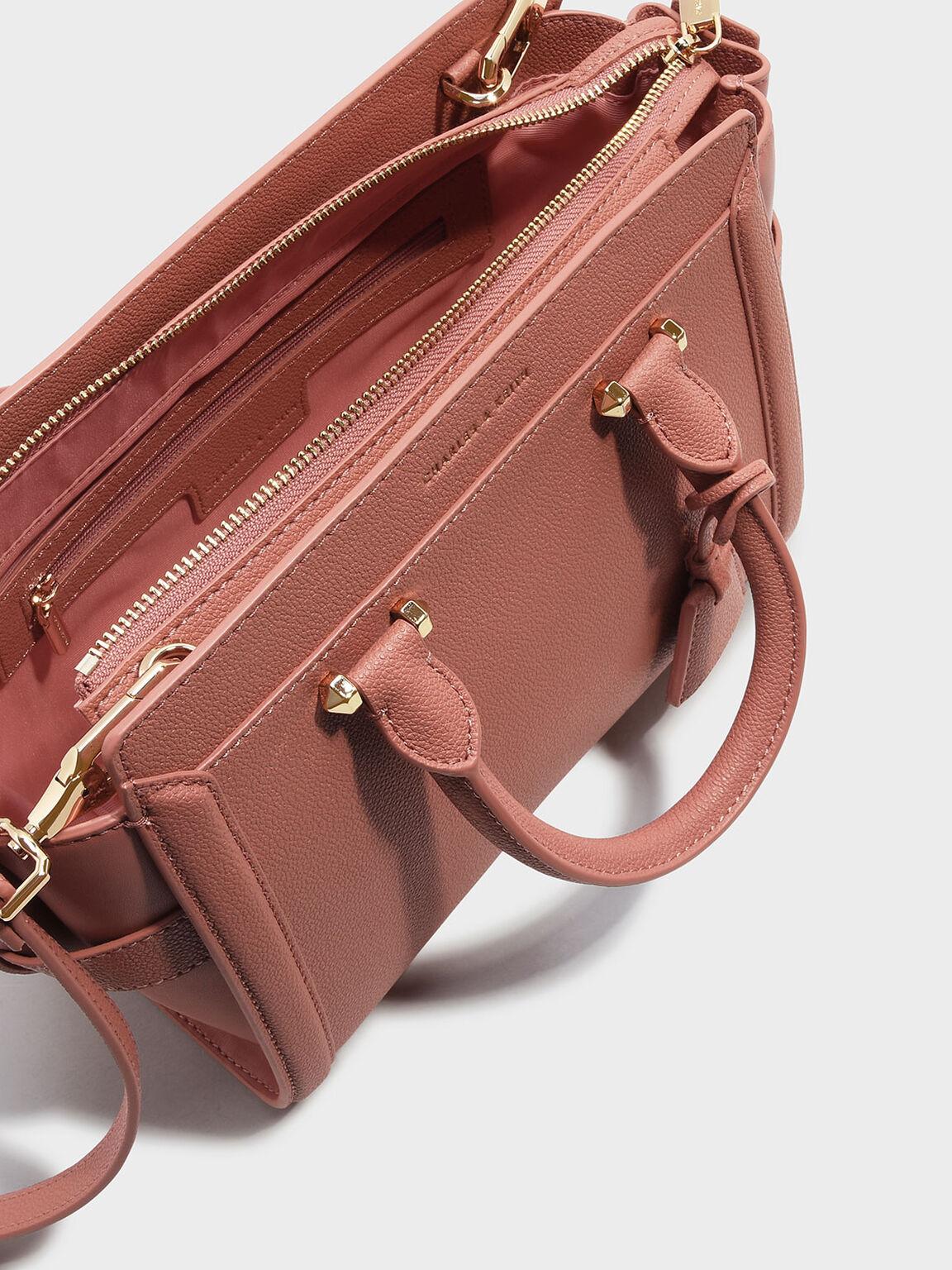 Trapeze Tote Bag, Blush, hi-res