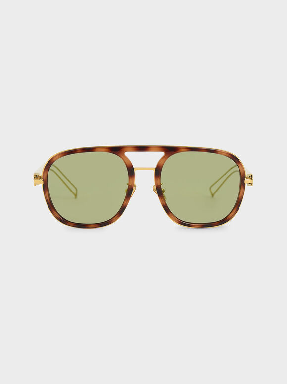 Double Bridge Tortoiseshell Sunglasses, T. Shell, hi-res