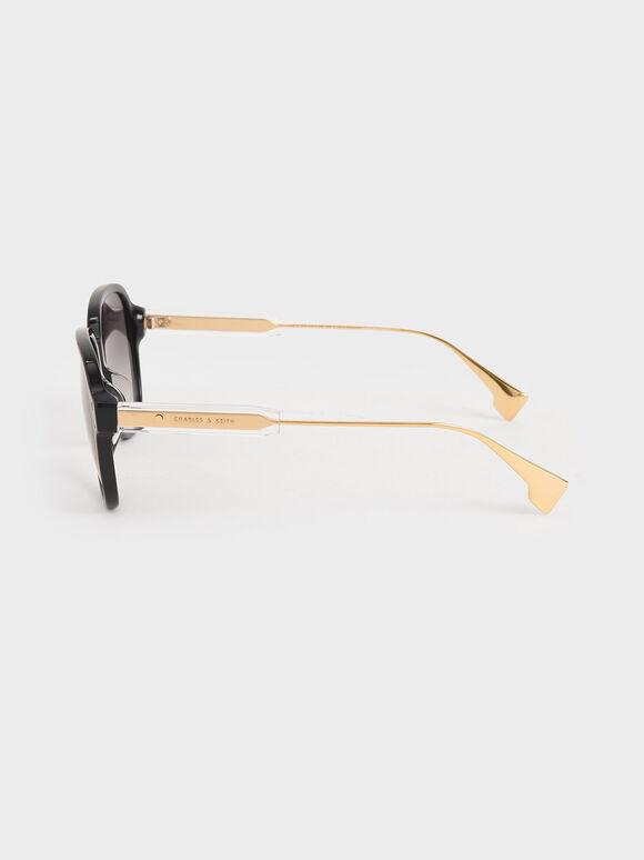 膠框飛行員墨鏡, 黑色, hi-res