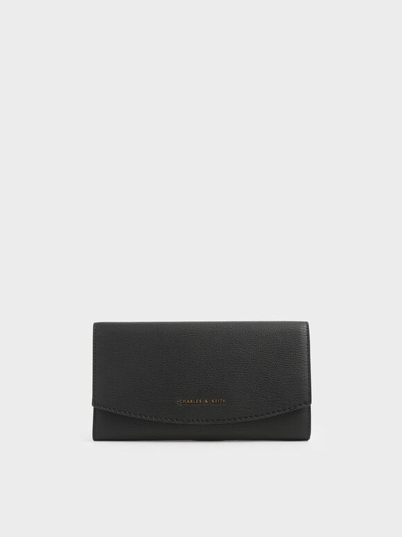 Mini Front Flap Long Wallet, Black, hi-res