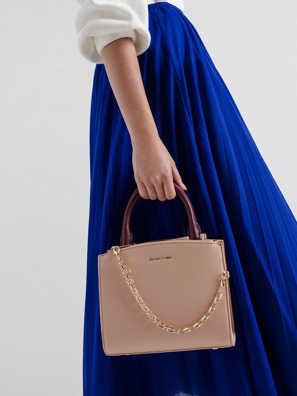 Chain Link Classic Handbag, Multi, hi-res