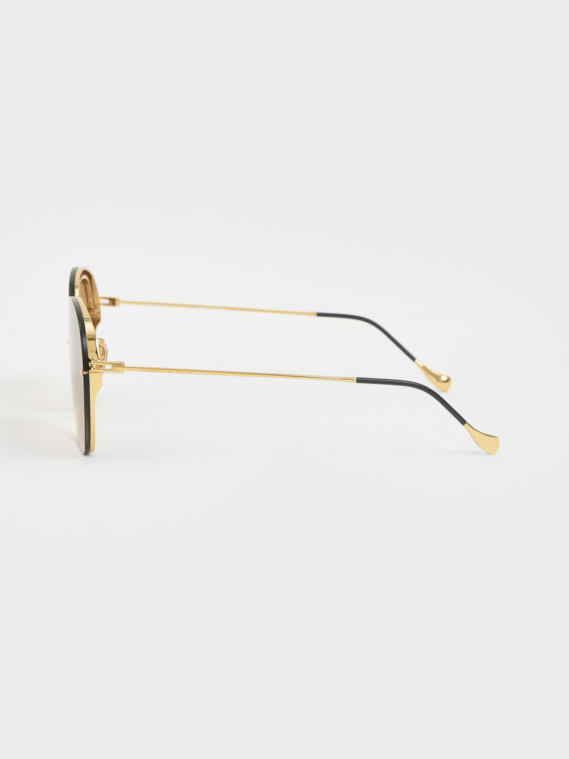 Wire Frame Butterfly Sunglasses, Gold, hi-res