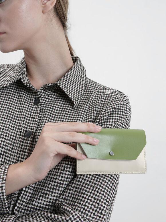Reversible Front Flap Card Holder, Cream, hi-res