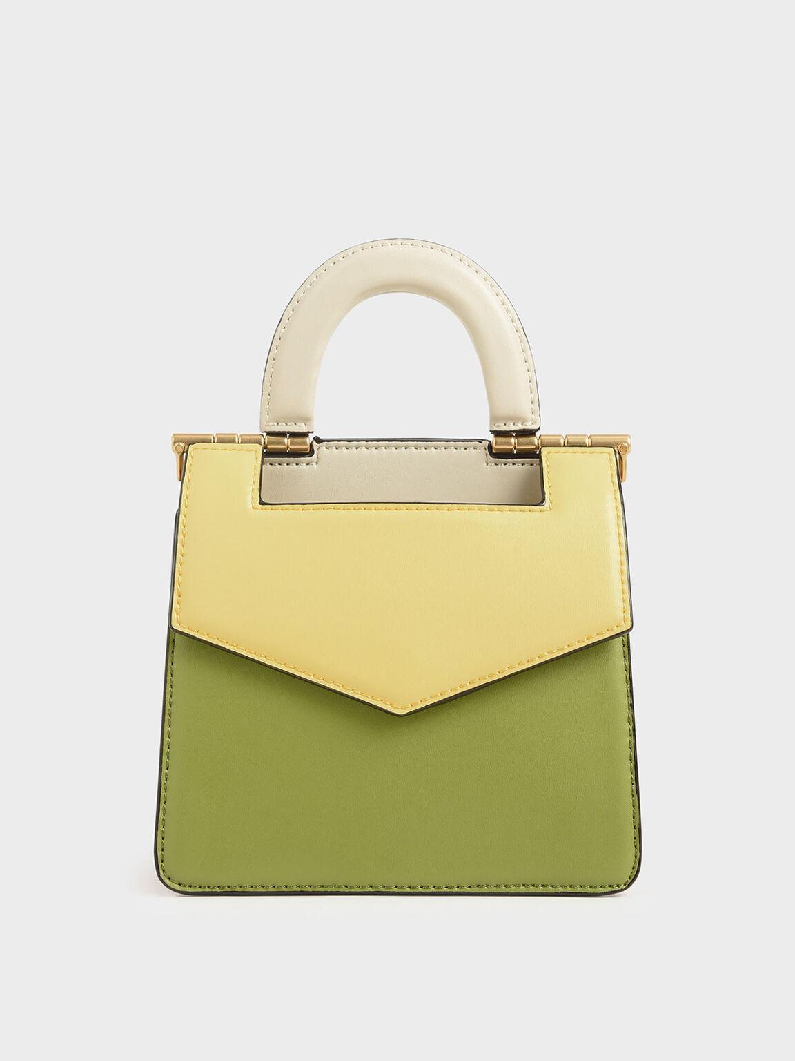 Mini Two-Tone Envelope Bag, Multi, hi-res