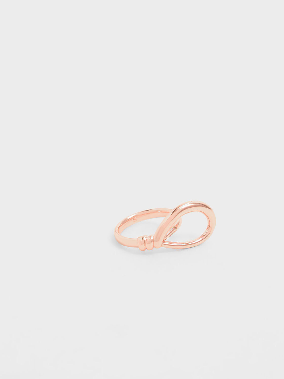 Knotted Ring, Rose Gold, hi-res