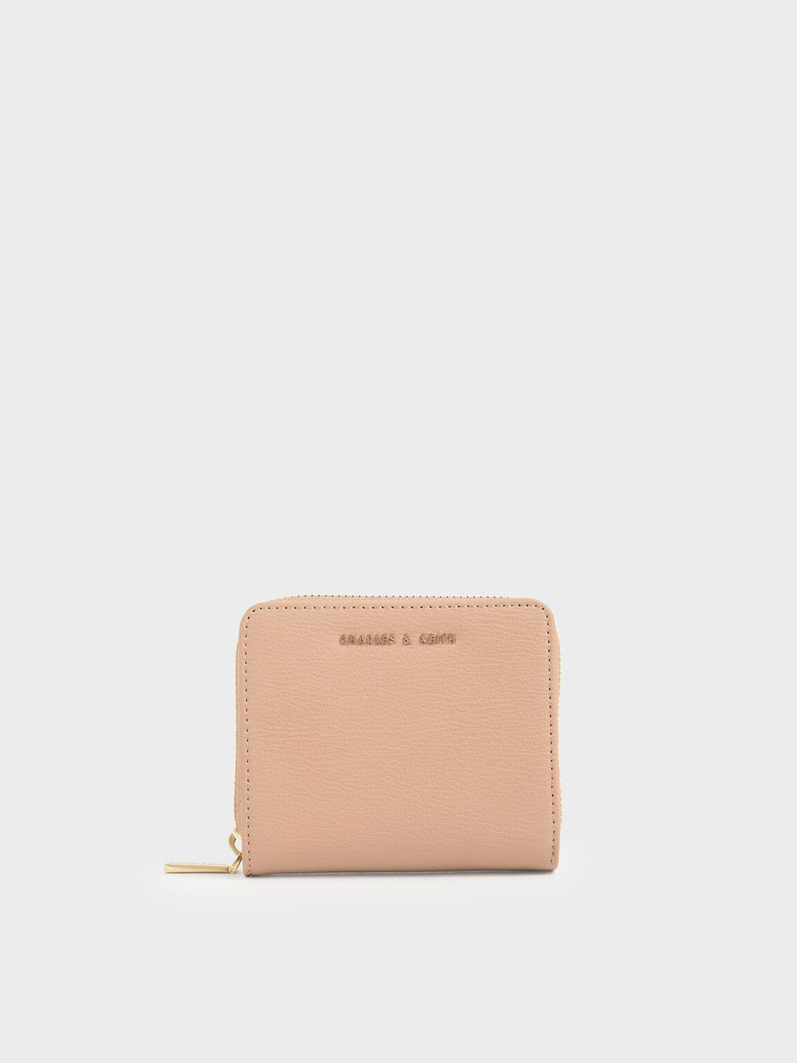 Small Zip-Around Wallet, Blush, hi-res